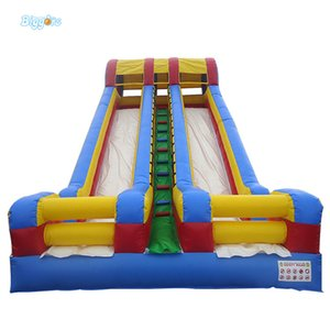 Outdoor Activity Inflatable Slide Double Lanes Water Park Slide For Sale