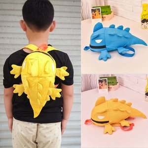 Kids Backpack Cartoon Lizard Shape Children Kids Rucksack Travel School Bags