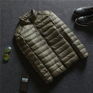 남자 다운 파카 가을 겨울 남자 울트라 가벼운 자 켓 화이트 오리 경량 outwear 남성 따뜻한 슬림 얇은 짧은 코트 SF538