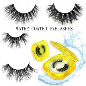 New Hotsell Mink Lashes Bulk Reusable False Eyelashes Water-Activated Self-Adhesive Eyelashes Without Glue Makeup Eyelash Extension