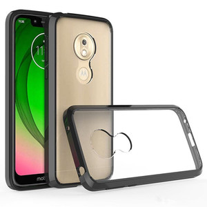 For Moto G8 PLUS G8Play G7 G6 E5 Samsung S11 S11E S11plus A71 A51 A21 A01 A30S Case Ultra Thin Transparent PC TPU Crystal Hard Back Case