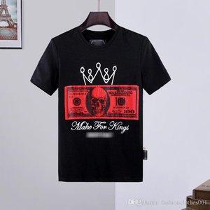 hommes concepteur t-shirt des hommes de crâne T-shirt d'impression de haute qualité T-shirt collier de designer T-shirts phillip simple Phillip ordinaire PP yy36