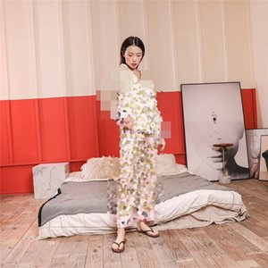 20SS New F Letter Long Sleeve Women Sleepwear Sexy V-Neck Silky Womens Pajamas Pyjamas Girls Casual Home Clothing Shirt Sets