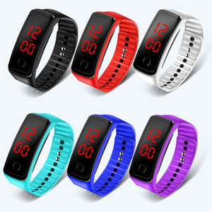Sports Digital Watch Women mens Kids Children students Silicone Fashion Wristwatch Ladies Fitness LED Braclet Wristband Clock