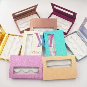 3 paires de fines Boîtes de montage Faux Cils de stockage d'emballage Boîte de stockage Personnaliser Lashes étui vide Lash Case DHL gratuit