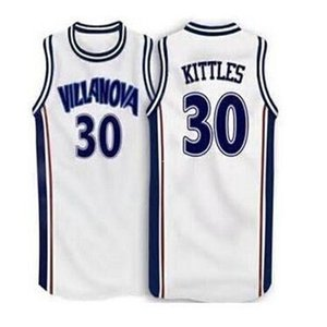Cheap # 30 Kerry Kittles Villanova Wildcats Retro Throwbacks Ricamo Basket Jersey bianco personalizzato qualsiasi numero e nome maglie