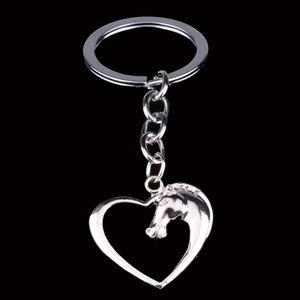 Coeur Swift Horse Plaqué Argent Porte-clés Anneaux Amitié Amis Porte-clés Porte-clés Famille Femmes Hommes Cadeau Sac De Voiture