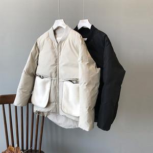 Oceanlove Büyük Cepler Katı Sıcak Parkas 2019 Fermuar Kış Ceket Kadınlar All Maç Ç Boyun Kalın Vintage Coat Moda 13143