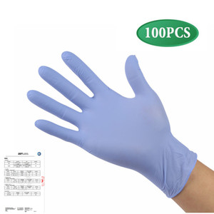100 Pieces Disposable Nitrile Gloves Non-Toxic, Food Safe, Allergy Free for Food Beauty Household Industrial Use tactile sensitivity