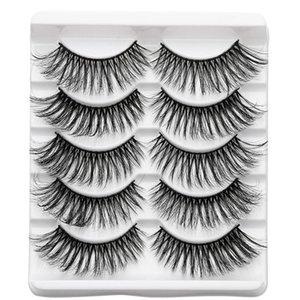 5Pairs 3D Mink Hair False Eyelashes Natural Thick Criss-cross Wispy Makeup Eye Lashes Fluffies Long Beauty Fake Lashes Extension