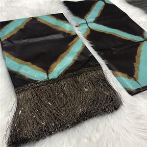 2019 아프리카 기니 Bazin Brocade Damask Fabric 술 Bazin Riche Brode Mali Bazin Brode Fabric 5 + 2 야드 / lot BT30