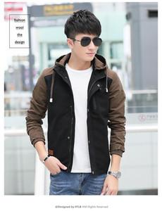 Mens Jackets Designer Lunghezza regolare Zipper Hooded cappotti Panelled maniche lunghe Abbigliamento Uomo sottile casuale Outerwear con Pocket