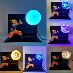Dragon Ball Z Son Goku Lâmpada Kakarotto Kamehameha LED Night Light Toy Anime Figuras Goku DIY Modelo de Exibição de Brinquedos com Lâmpada