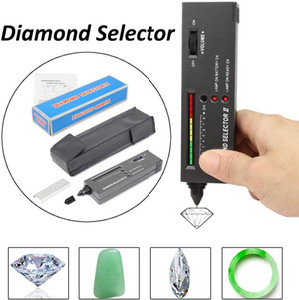 Professionelle High Accuracy Diamant-Prüfvorrichtung Edelstein Wählii-Beobachter-Werkzeug-LED Diamant-Indikator-Test-Feder