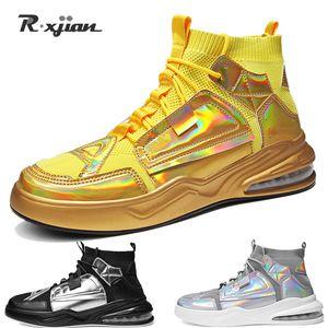 Genuina pscownlg hombres de los zapatos corrientes respirables al aire deportivo ligero zapatillas de deporte cómodo tapizado plano de formación informal