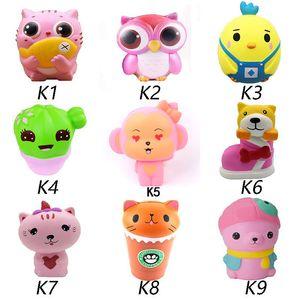 giocattoli caldi Squishy Gufo Jumbo Kawaii animali molle sveglia lento aumento a sorpresa del telefono bambola Strap Spremere Pausa giocattolo per bambini alleviare l'ansia Fun Gif