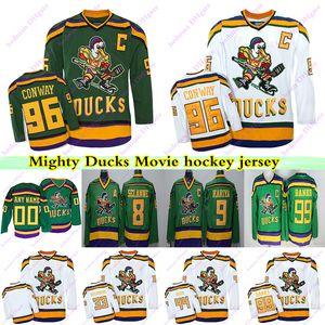 Mighty Ducks Filme CCM Vintage jerseys 99 Adam Banks 96 Charlie Conway 9 Paul Kariya 8 Teemu Selanne 66 Gordon Bombay Hockey Jersey