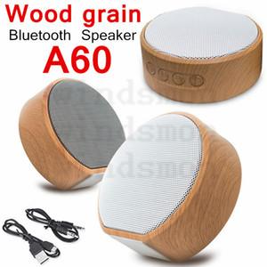 A60 Holzmaserung Lautsprecher drahtloser Bluetooth Lautsprecher Portable Mini Subwoofer Audio Geschenk Stereo-Lautsprecher Sound-System TF-AUX