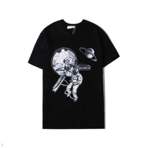 Marka Tişört Astronaut ile Erkekler Kadınlar 2020 Yaz Yeni Tasarımcı Gömlekler Moda Tee 2 Renkler Boyut S-2XL Toptan DA20113 yazdır için