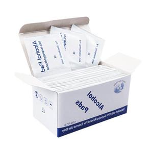 Batuffolo imbevuto di alcool pad medica tampone Sachet antibatterico strumento Cleanser Wet Wipes 100pcs / lot 75% di alcol Prep Swap antisettica la pulizia della pelle Cura