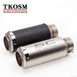 Tkosm 60mm 51mm Sc Motorcycle Exhaust Pipe Scooter Laser Modified Carborn Firber Sc Muffler Pipe For Kawasaki Zx6r R6 Z1000 K6 K7 K8