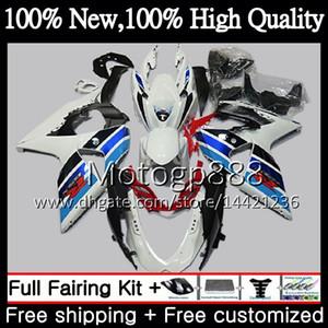 Karosserieverkleidung für SUZUKI GSX-R1000 GSXR 1000 Blau Weiß 09 10 11 12 13 15 33PG5 GSX R1000 K9 GSXR1000 2009 2011 2011 2014 2014