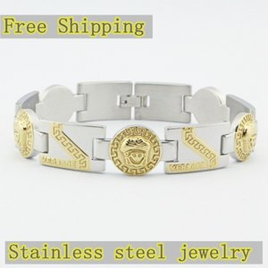 1 tête Medusa Bracelet homme bijoux en acier inoxydable plaqué or estampée cadeau de vacances Bangle de haute qualité Bracelet Livraison gratuite