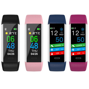 Smart ID115 Fitness Tracker-Körper-Temperatur-Test-Band Bluetooth 4.0 IP67 wasserdichte intelligente Ringe Herzfrequenz Smart Watch für iOS und Android