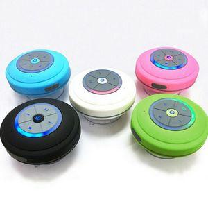 غرفة ماء سماعات بلوتوث 4.1 ضوء مكبر الصوت المصاص دش صندوق اللاسلكية مصغرة المكونات في TF سيارة FM صغير حزب Q9 راديو بطاقة