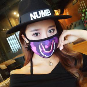 Unisex Yüzme Ape Köpekbalığı Yüz Maske Moda Ağız-mufla Siyah Yüz Maskeleri Kamuflaj Koruyucu Bisiklet Maske Köpekbalıkları Korku Maskeler Hediyeler Yeni