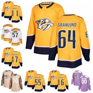 64 Mikael Granlund Nashville Predators 57 Dante Fabbro 16 Rem Pitlick 55 Cody McLeod 17 Wayne Simmonds 11 Brian Boyle hockey Jersey