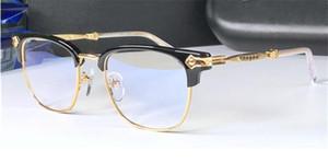 Новый логотип очки хром-H очки VERHAUL Предписание Men'Square Полурамка Brand Designer Очки для зрения Vintage Style стимпанк