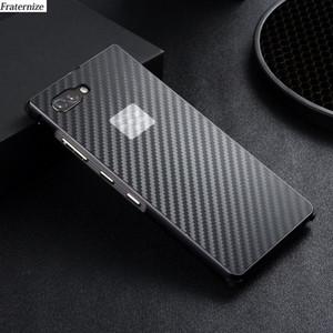 Key2 aluminium métal pour Blackberry Key 2 pare-chocs en métal + Cadre en plastique résistant aux chocs en fibre de carbone Téléphone couverture arrière de cas Coque