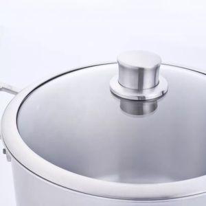 Healty sin cocina de titanio recubrimiento olla de cocina utensilios de cocina de olla de caldo de titanio casa cocinar olla de sopa para la venta