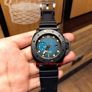 Hot High quality luxury mens watches PAM00983 submersible luminous military watch automatic mechanical sports special edition wristwatches