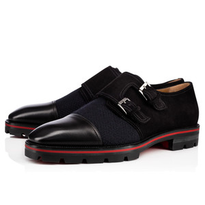 Hot Sale-fashion new men dress shoes black leather loafers formal shoes men business shoes red sole