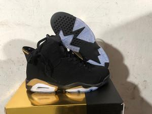2020 yeni 6 DMP Siyah Metalik Altın Paketi 23 Basketbol ayakkabı erkekler tanımlanması Anlar Sneakrs Spor CT4954-007 ile Kutu 40-47
