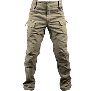 Нового хлопок эластичной ткань Город Military Tactical штаны Мужчина Спецназ Combat Army Брюки Мужская повседневные Многие Кармана Брюки