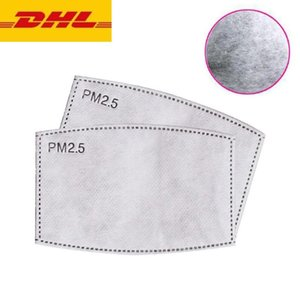 US Stock DHL SHIP 100Pcs Face Mouth Mask Filter Pad 5-layer Filtered Activated Carbon Disposable Mask Pad