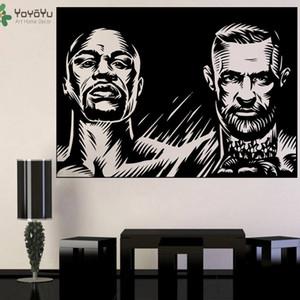 Floyd Mayweather Jr. Duvar Çıkartması vs Boks Duvar Sticker için Boys Yatak Çıkarılabilir Şampiyonu Fight Poster DIY Conor McGregor