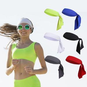Femmes Hommes Bandana Sport Écharpe Head Tie Sweatband Tennis Basketball Head Band Hat