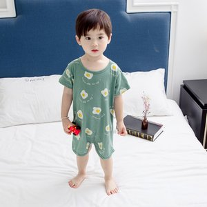 2193# baby baby nightgown cotton thin 3-year-old children's nightgown female Body clothes pajamas pajamas male thin conjoined