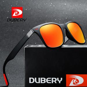 Dubery Mens polarizado gafas de sol de diseñador de las mujeres de conducción al aire libre Deportes de acabado Gafas de sol UV400 Espejo cuadrado