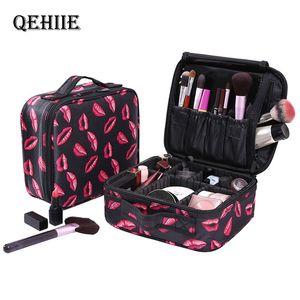 QEHIIE New Moda Mulheres Cosméticos sacos de viagem maquiagem profissional Make Up Box cosméticos bolsa Bags Beleza Capa Para maquilhador S200409