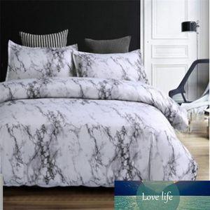 Motif de pierre Consolateur Literie Queen Size impression réactive Blanc et marbre Litières Noir Housse de couette Sets de couverture