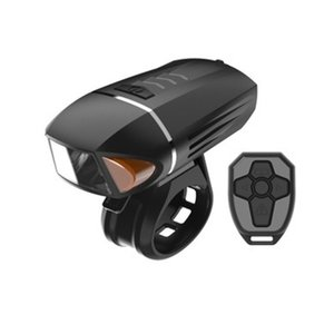 Preto USB Recarregável DIODO EMISSOR de Luz De Controle Remoto Da Bicicleta Da Bicicleta Frente Turn Signal Chifre Ciclismo Luz Acessórios # 3N26