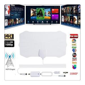 Cubierta bajo techo TV HDTV Antena 200 millas de alcance de la antena de TV digital HD 1080P Skywire 4K Digital TV Antenas de televisión por piezas