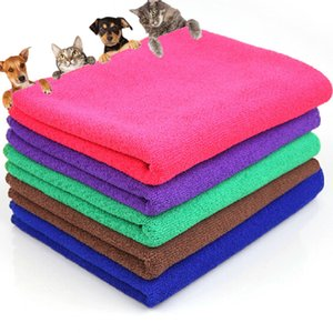 New Solid Dry Hair Towels Pet Supply Fast Drying Grooming Microfiber Towel Blanket for Pet Dog Cat Random Colors Pets Acessorios