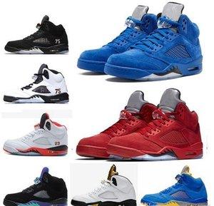 5 X PSG París zapatos de baloncesto 5s negro de uva hite oreo cemento Olímpico Azul Rojo hombre blanco tamaño entrenador deportivo zapatillas de deporte 7-13
