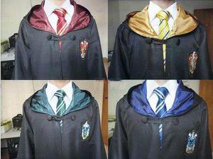 Harry Potter Robe Grifinória Sonserina Corvinal Lufa-Lufa Cosplay Crianças Adulto Robe manto 4 estilos fantasia de Halloween presente Harris